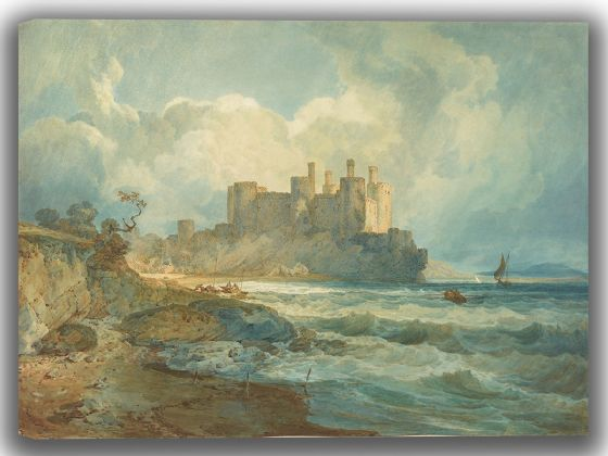 Turner, Joseph Mallord William: Conway Castle, North Wales. Fine Art Canvas. Sizes: A4/A3/A2/A1 (004150)